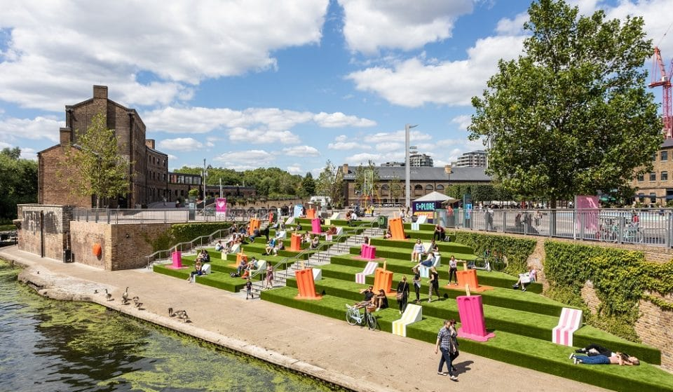 The Granary Square Steps Have Been Filled With Giant Ice Lollies