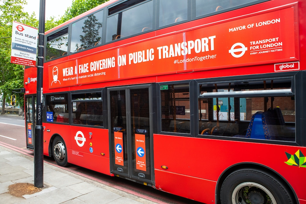 Thousands Were Prevented From Boarding London Buses For Not Wearing Face Masks
