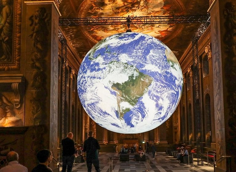 A Huge, Illuminated Model Of Earth Has Just Arrived In Greenwich's Painted Hall