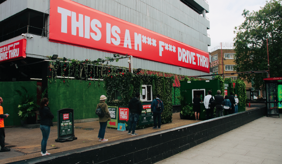 The UK's First Ever Meat Free Drive Thru Has Arrived In London