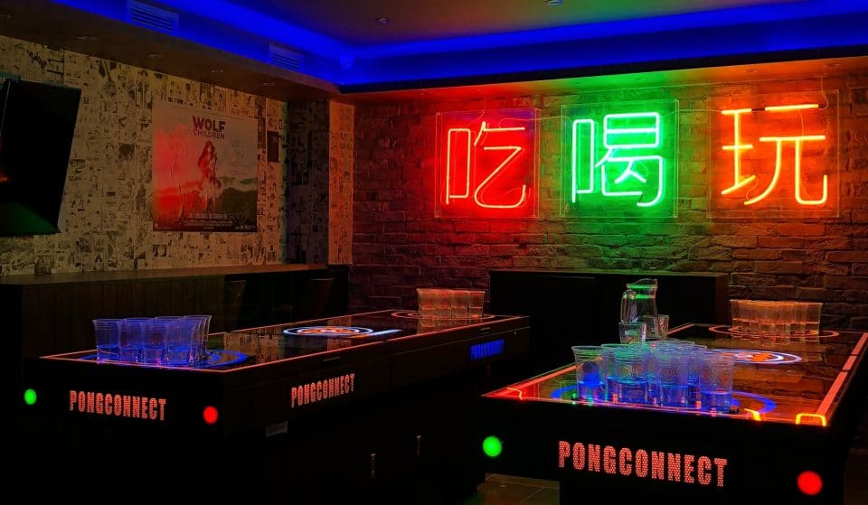 This Incredible Bottomless Brunch Features Hi-Tech Beer Pong