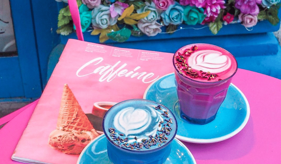 The London Coffee Shop With The Hyper-Colourful Lattes • Coffee Addict