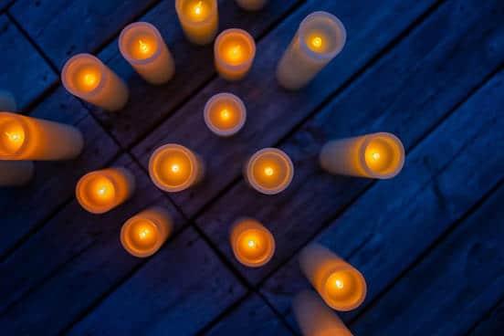 Floating candlelight