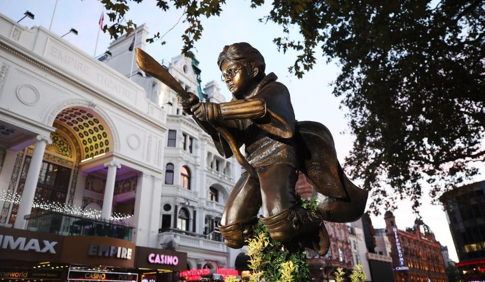 A Magical Harry Potter Statue Has Been Installed In Leicester Square