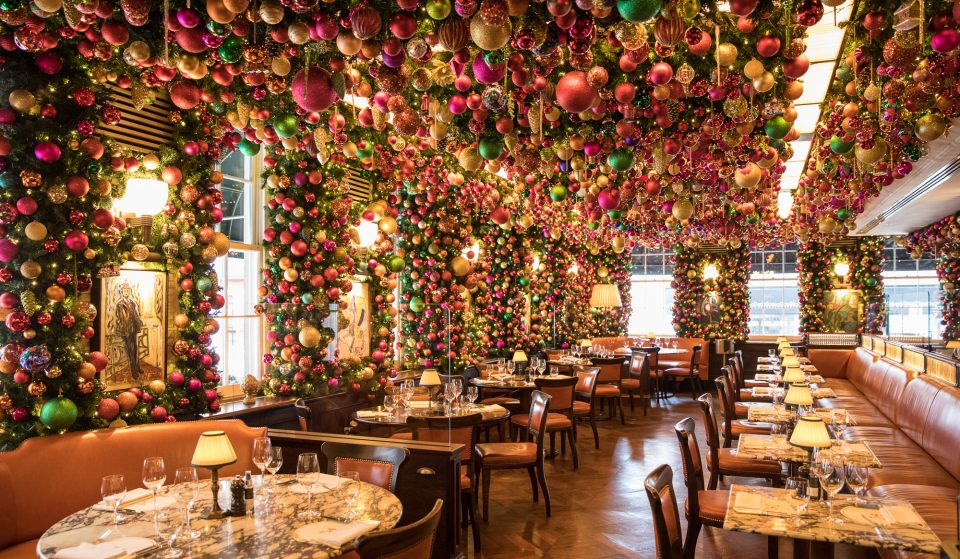 A Magical Christmas Installation Featuring 14,000 Decorations Has Taken Over This Mayfair Restaurant
