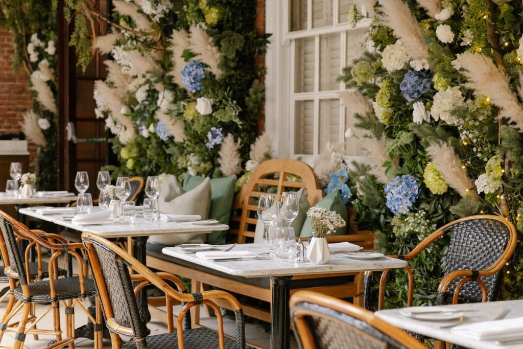 Flower-filled interiors of Dalloway Terrace