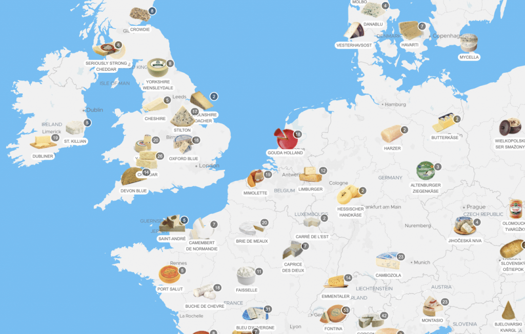 Cheese map