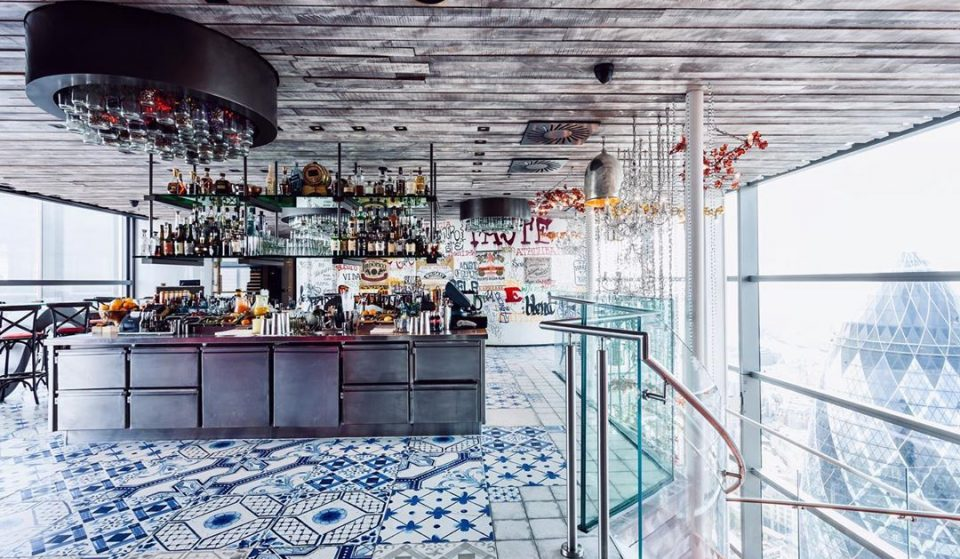 This Spectacular Sky-High Restaurant Now Serves Bottomless Brunch Every Day • Duck & Waffle