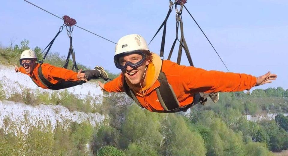 The UK's Longest And Fastest Zip Line Has Just Opened Near London