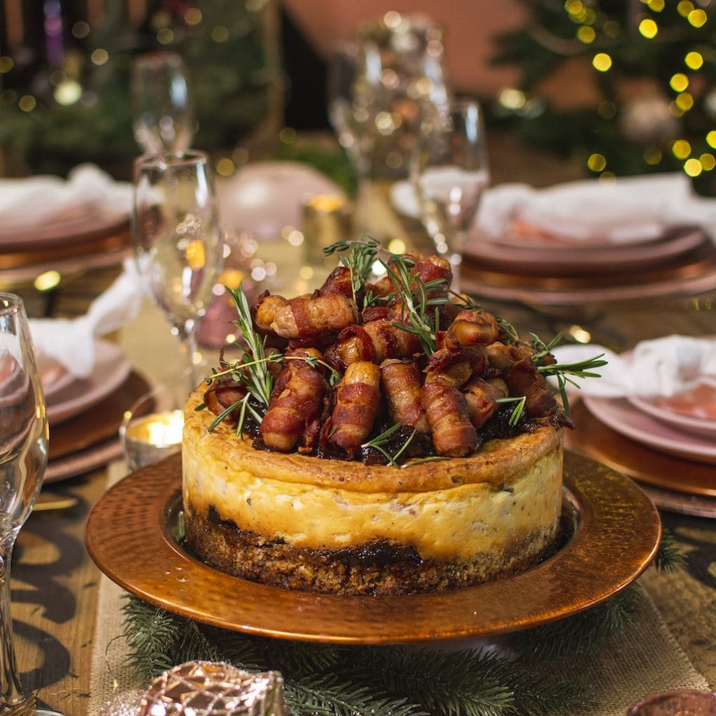 Pigs in blankets cheesecake