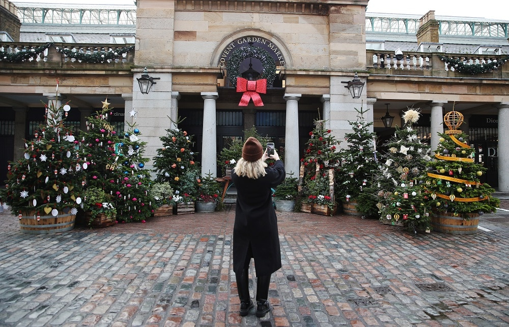 Covent Garden Christmas Lights Are Now Glowing Bright
