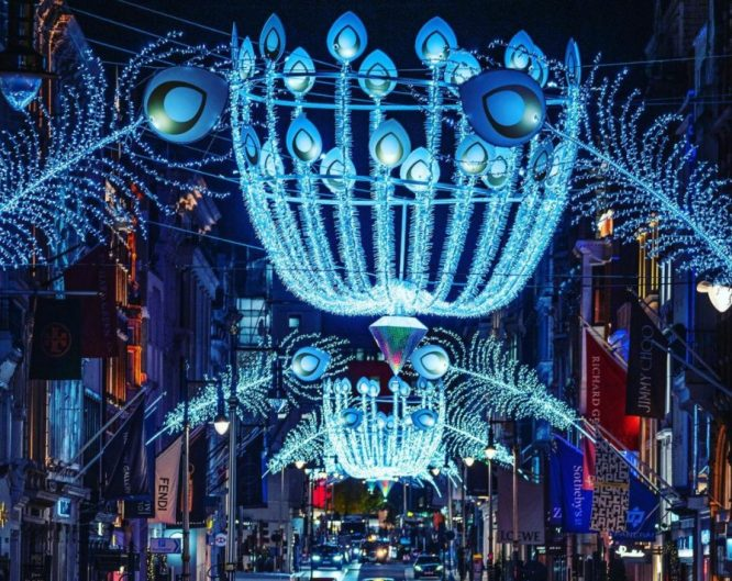 festive Bond Street Christmas lights
