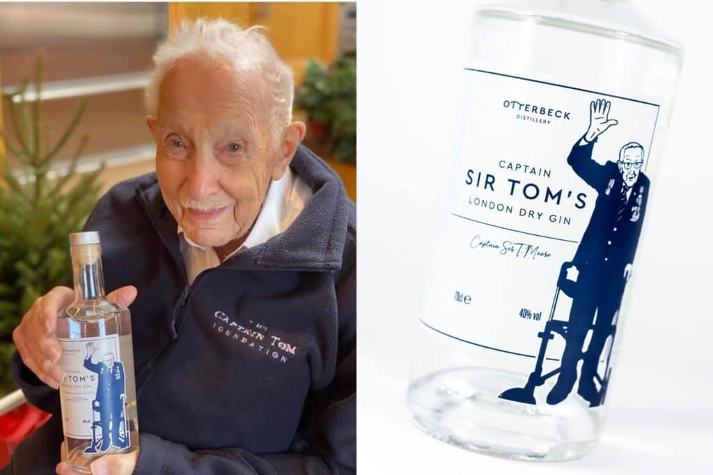Captain Sir Tom Moore Raises Spirits Once Again With His New London Dry Gin