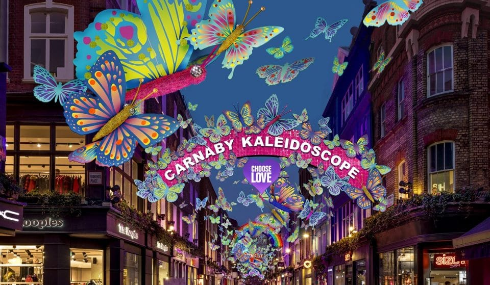This Year's Carnaby Street Christmas Lights Bear A Message Of Change And Hope