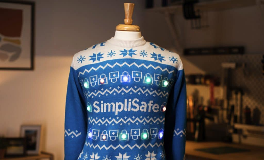 This Christmas Jumper Promotes Social Distancing By Lighting Up If Somebody Gets Too Close