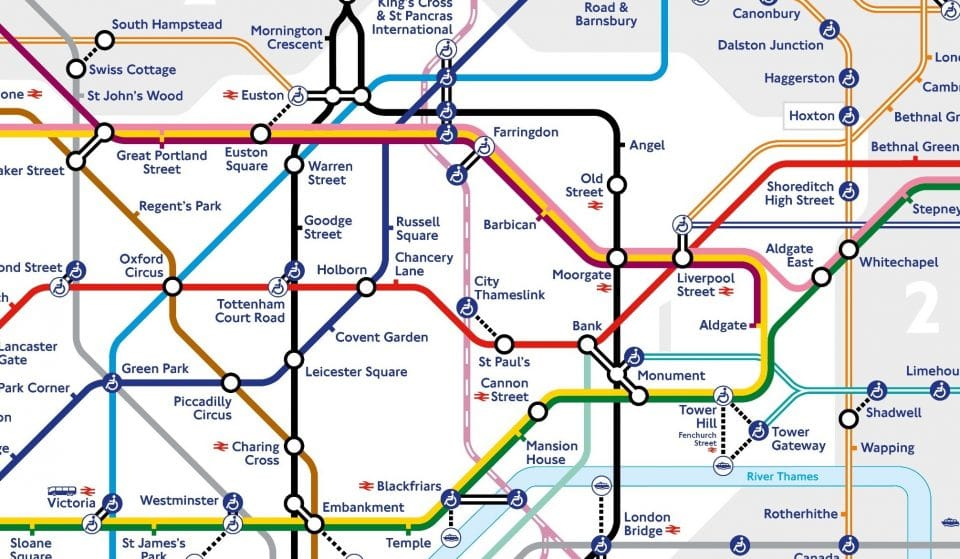 London's Iconic Tube Map Has Had A Revamp For 2021
