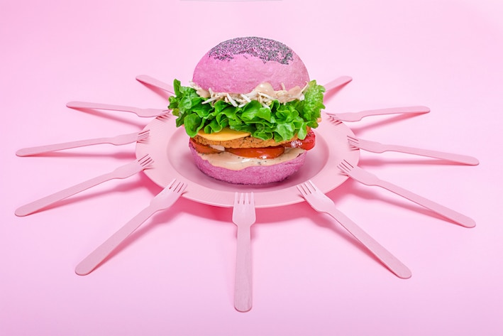A Quirky, Colourful Vegan Burger Joint Opens In London This January • Flower Burger