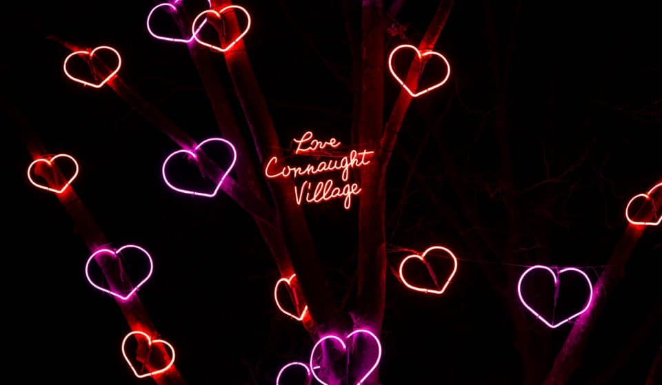 Marylebone Has Been Filled With Neon Hearts For Valentine's Day