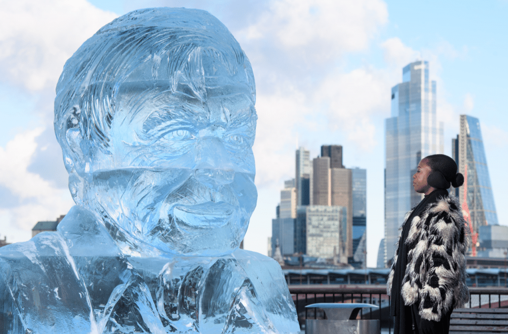 Ice sculpture David Attenborough