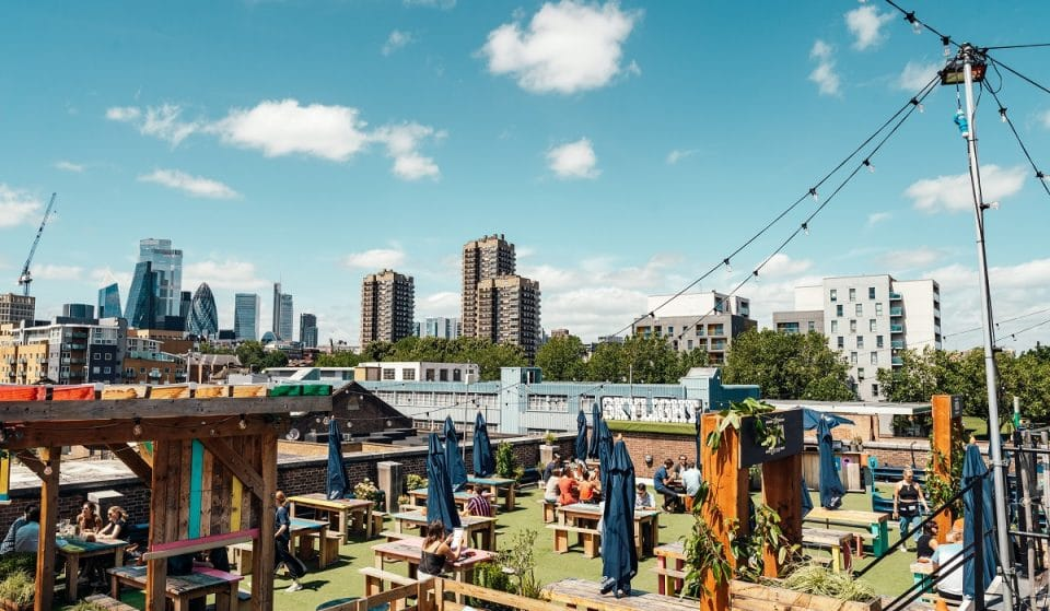 East London's Dreamy Rooftop Hangout Is Home To Cocktails And Croquet Lawns • Skylight