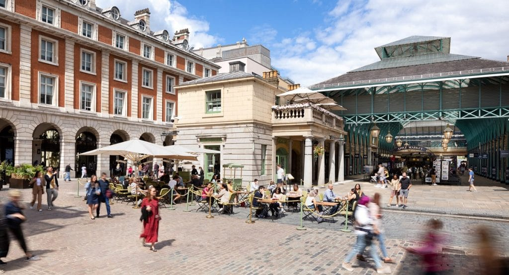 A Covent Garden Outdoor dining hub is opening on April 12