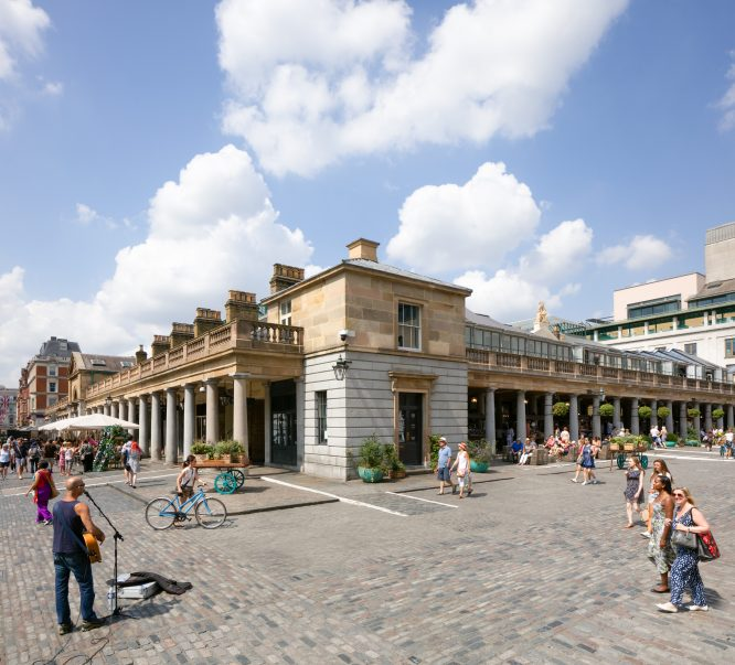 An outdoor picnic and garden dining area will be opening in Covent Garden's East Piazza