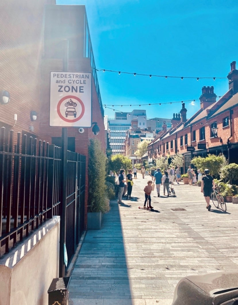 A Chelsea street, which will now close for outdoor dining.