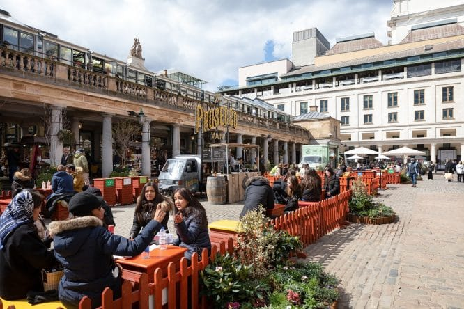 Covent Garden outdoor dining