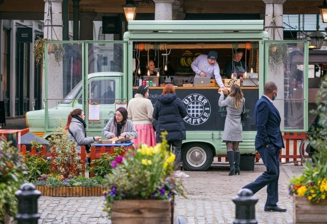 A food truck in Covent Garden