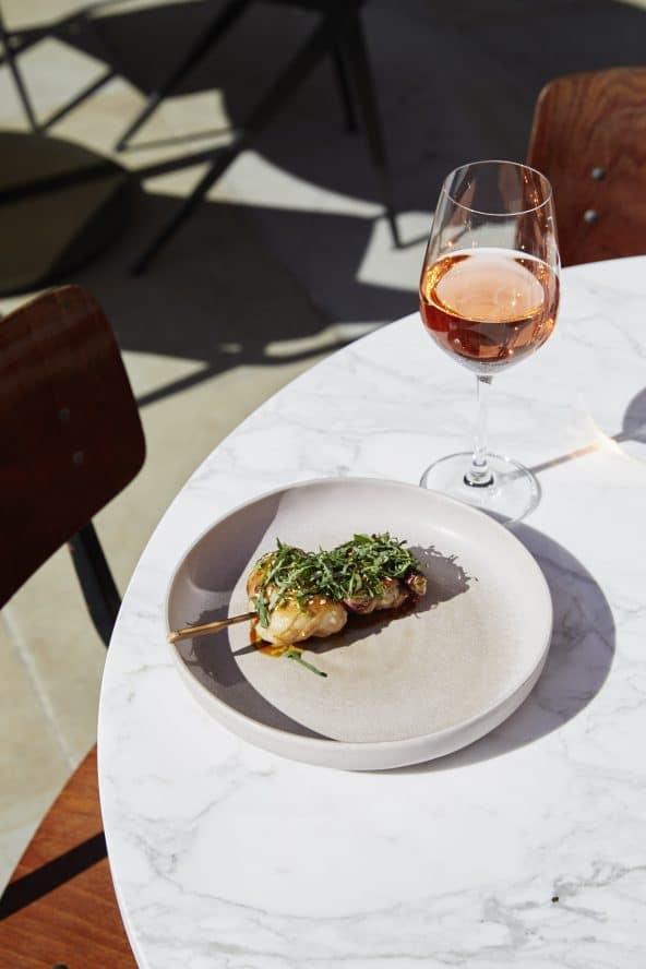 The Light Bar Shoreditch wine and seasonal dish