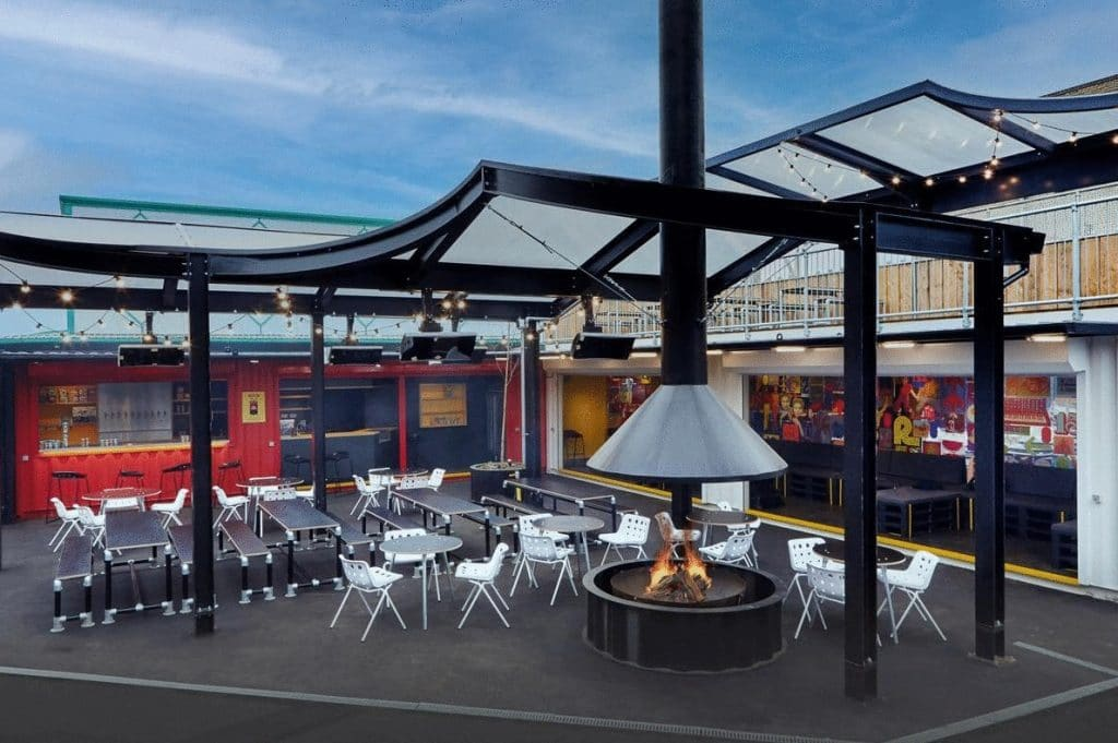 Gather Round The Firepit At London's New Beer And BBQ Joint • Campfire