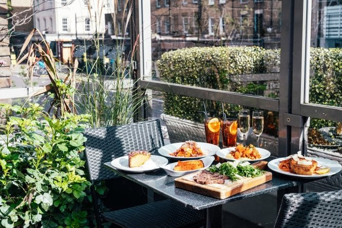 Arenella Summer Terrace at The Chapel Bar in Islington