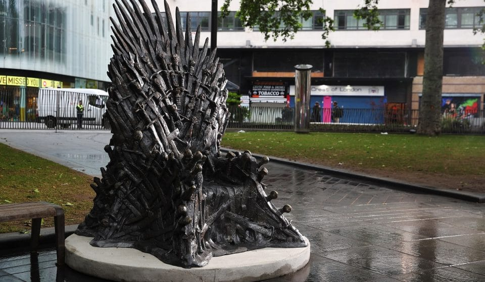 A Statue Of The Iron Throne Has Been Installed In Leicester Square