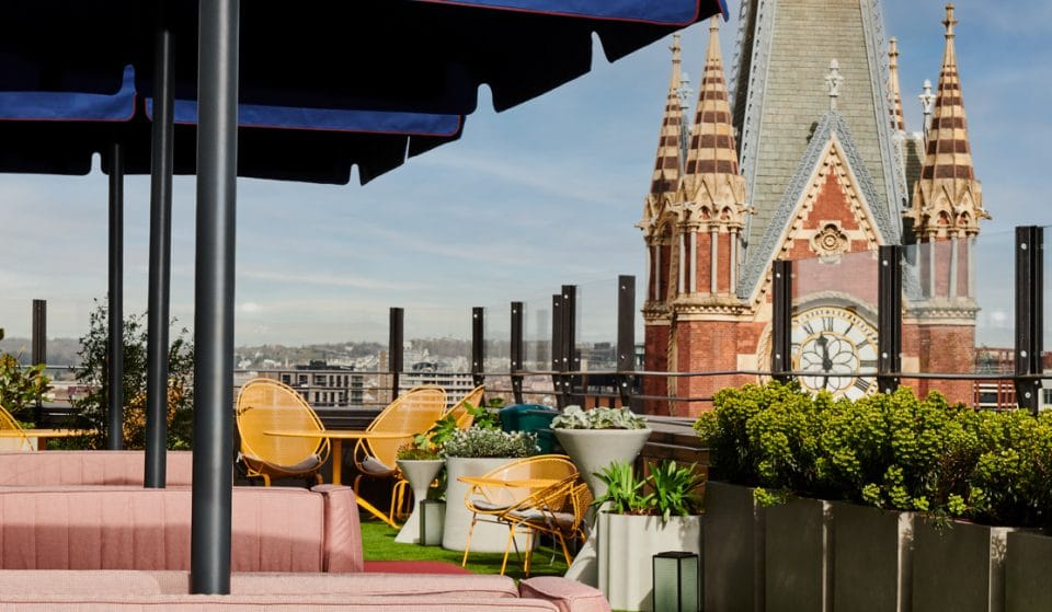 The Brand New Rooftop Bar Overlooking London's Iconic St Pancras Clock Tower • The Standard Rooftop