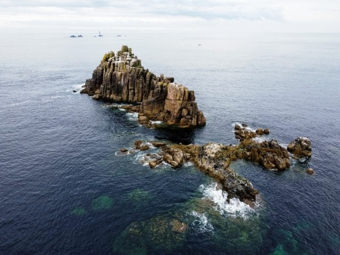 Land's End is one of the highlights to be seen on the West Kernow Way cycling route in Cornwall