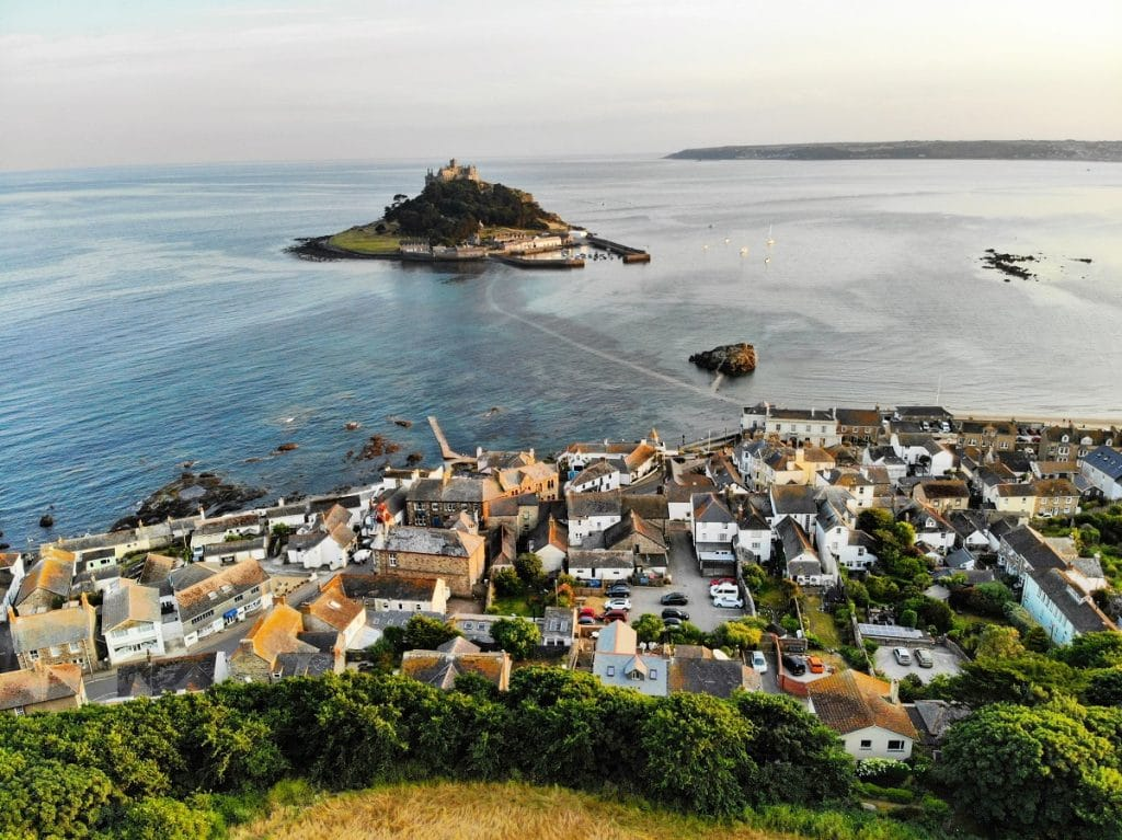 The island castle and gardens of St Michael's Mount will be part of a new cycling route in Cornwall