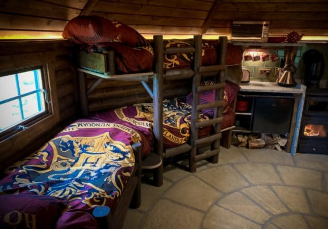 Harry Potter-themed bedding at Hagridd's Hideaway