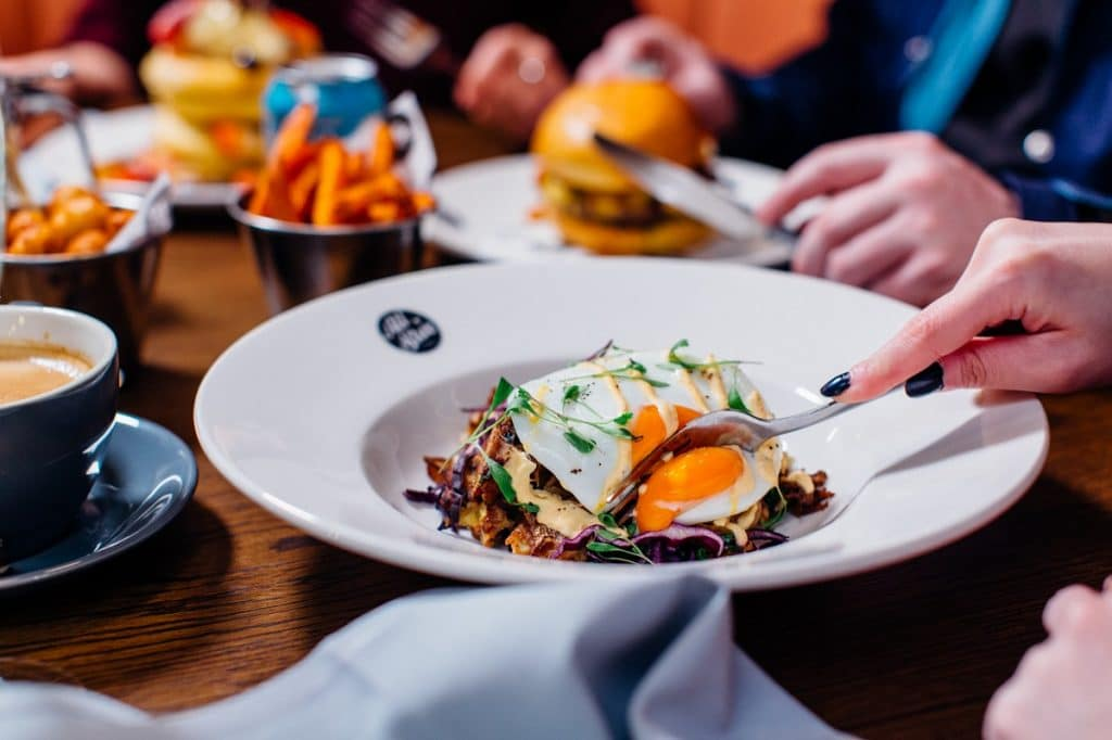 Enjoy a bottomless brunch with unlimited beer or prosecco on All Star Lanes' hop garden terrace.