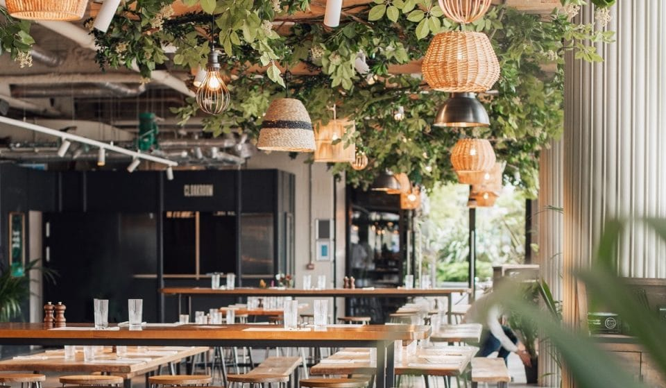 A Stunning New Bar And Street Food Hub Has Opened At London's Covered Rooftop Garden • Pergola On The Wharf
