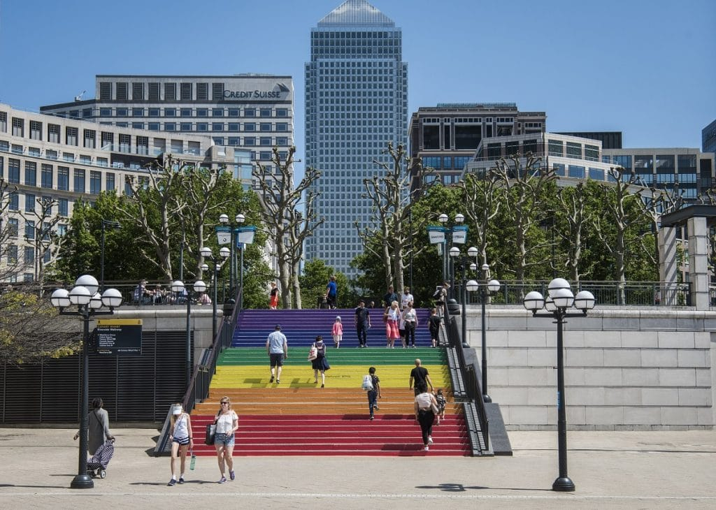 canary wharf is celebrating pride with a series of installations