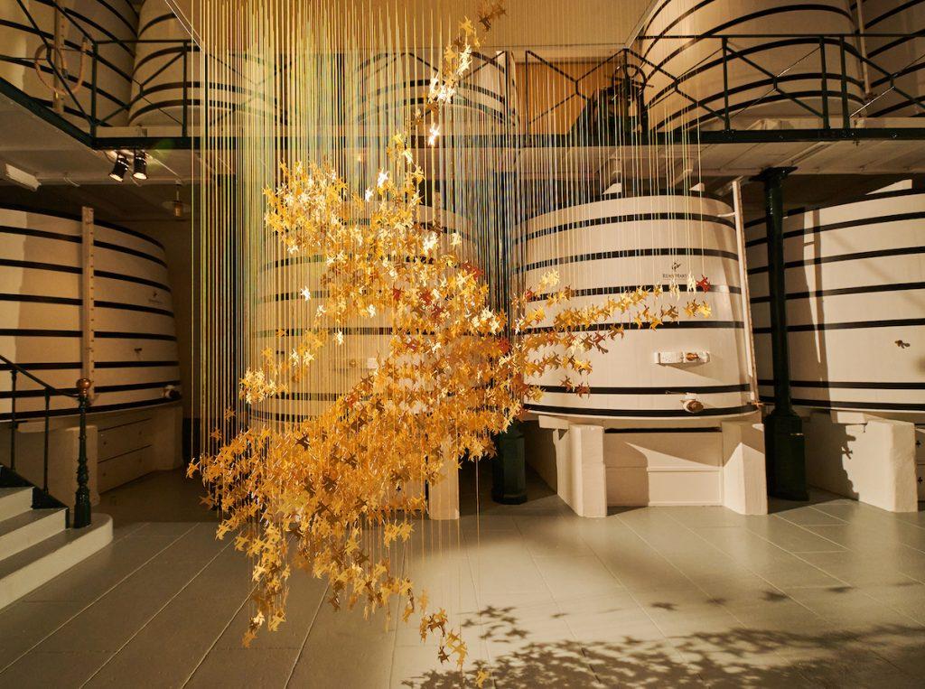 rémy martin gilded art sculpture design museum