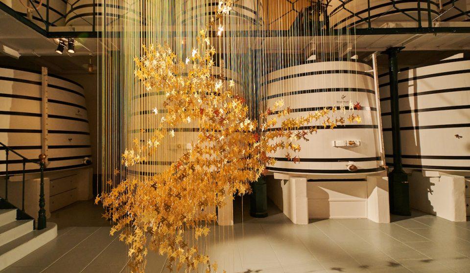 Rémy Martin Unveils A Gorgeous Gilded Art Sculpture At The Design Museum