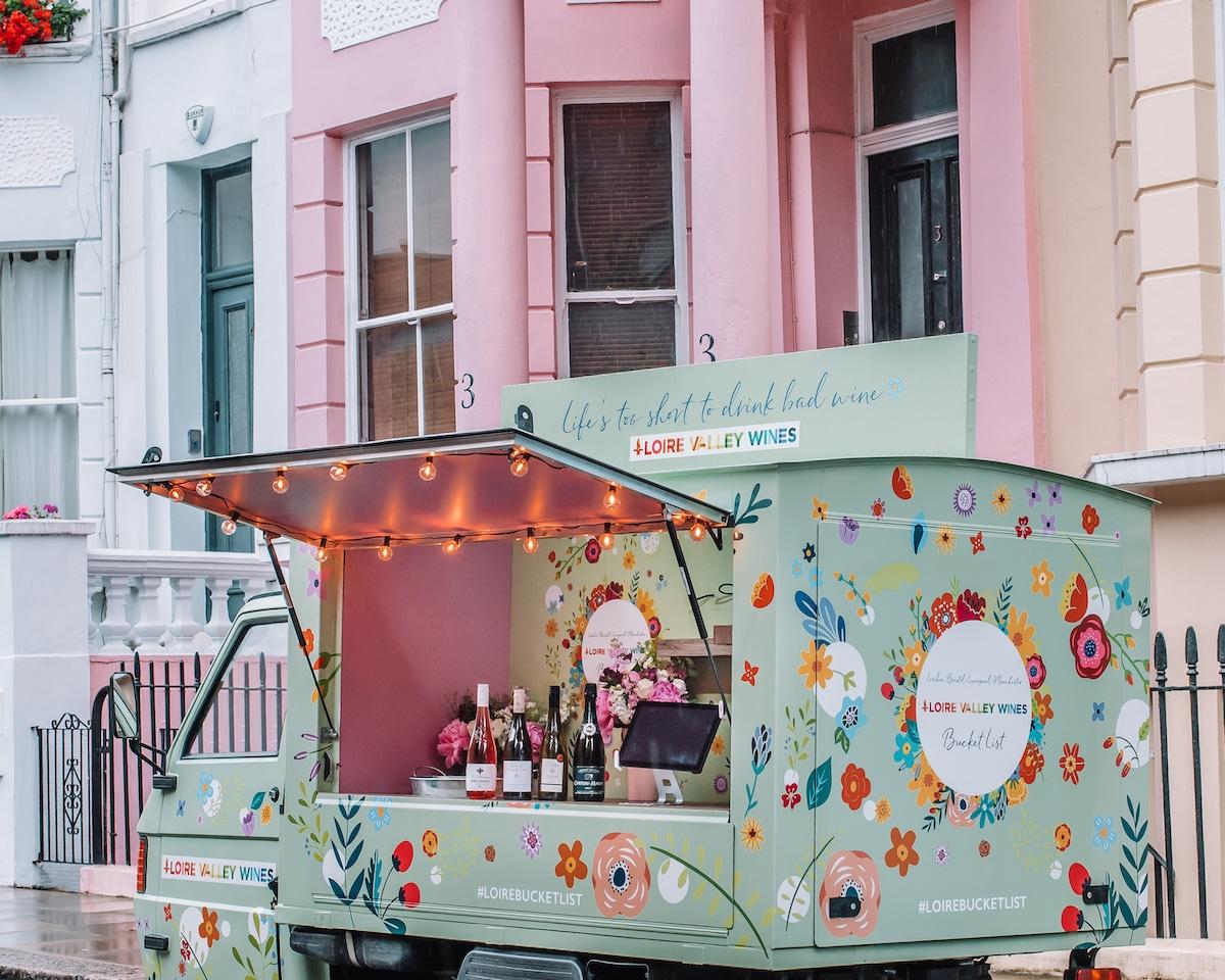 loire valley wines pop-up wine truck