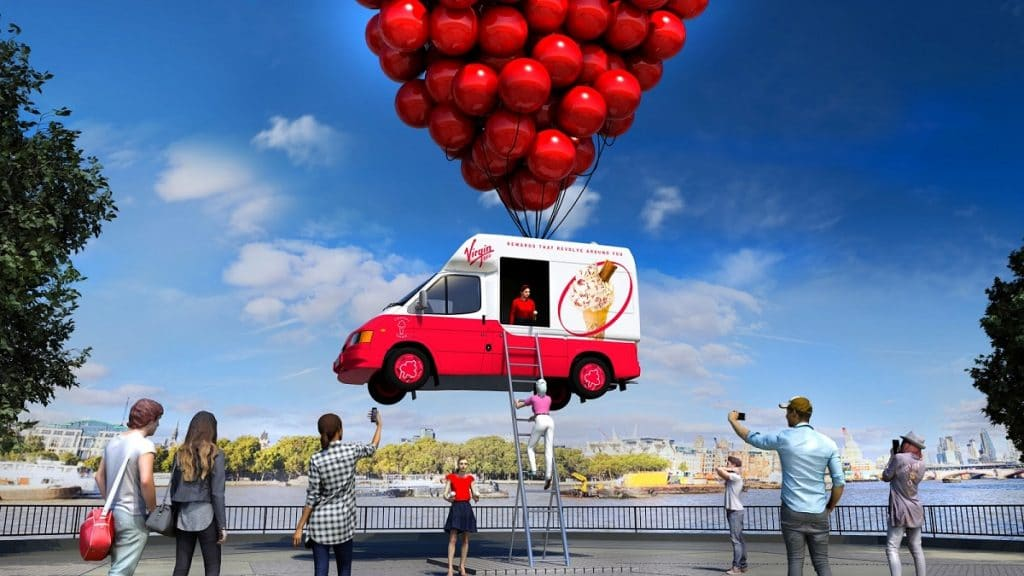 A floating ice cream truck will be giving out free cones on the south bank next week