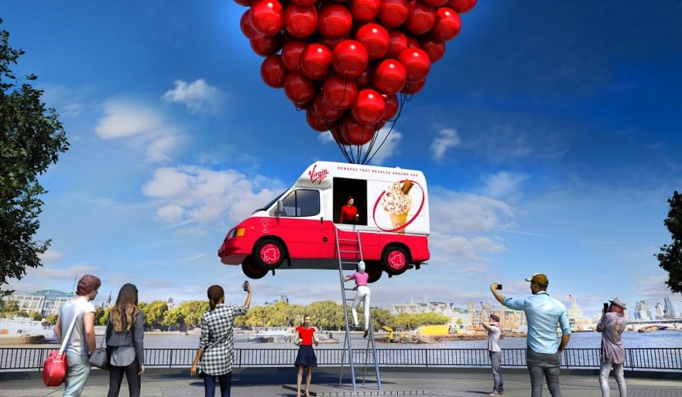 A Giant Floating Truck Is Giving Out Free Ice Cream On The South Bank Today