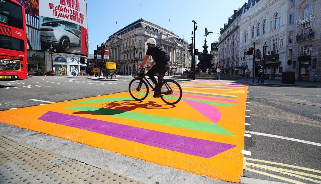 Piccadilly Circus Has Had A Colourful Makeover, Thanks To The Royal Academy Of Arts