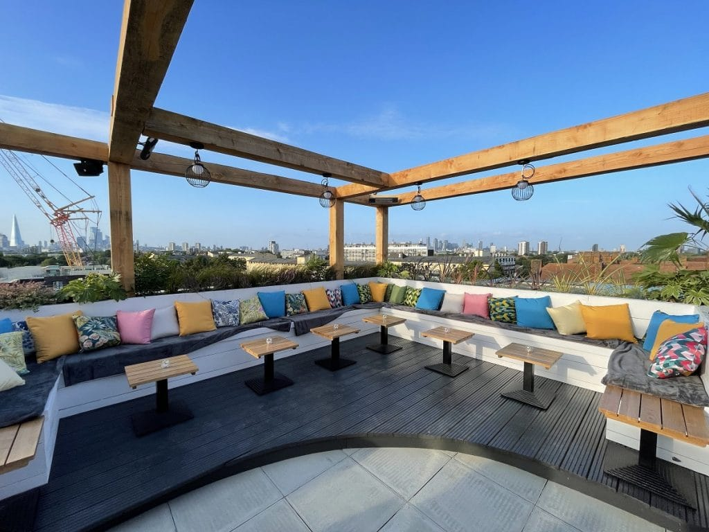 South London's Stylish New Rooftop Bar Boasts Dreamy Cocktails And Skyline Views • Skylight Peckham