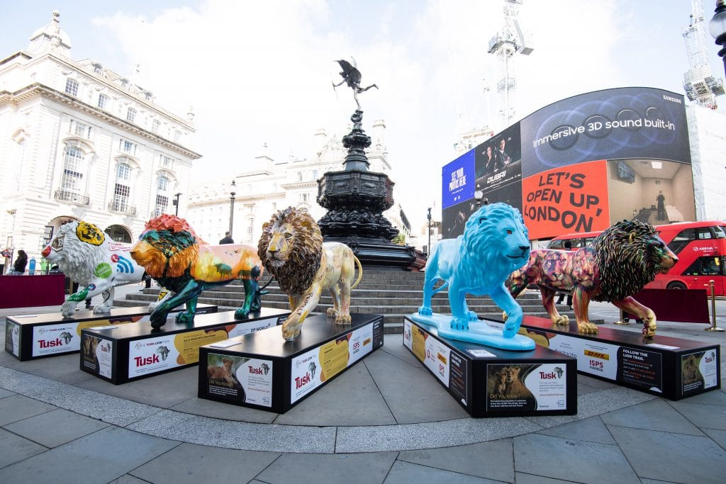 A Pride Of Lions Have Popped Up In London's West End