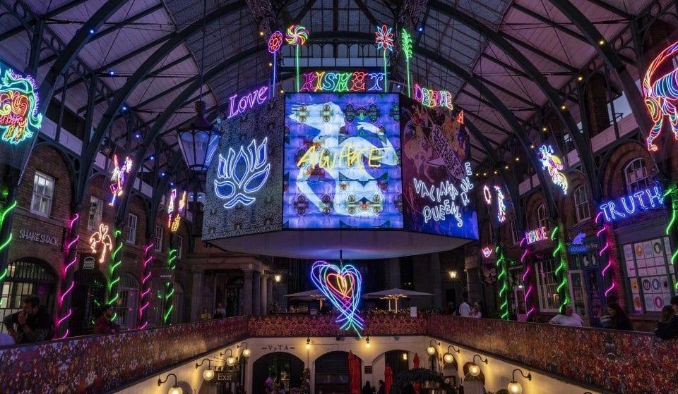A Dazzling Neon Art Installation Has Taken Over Covent Garden