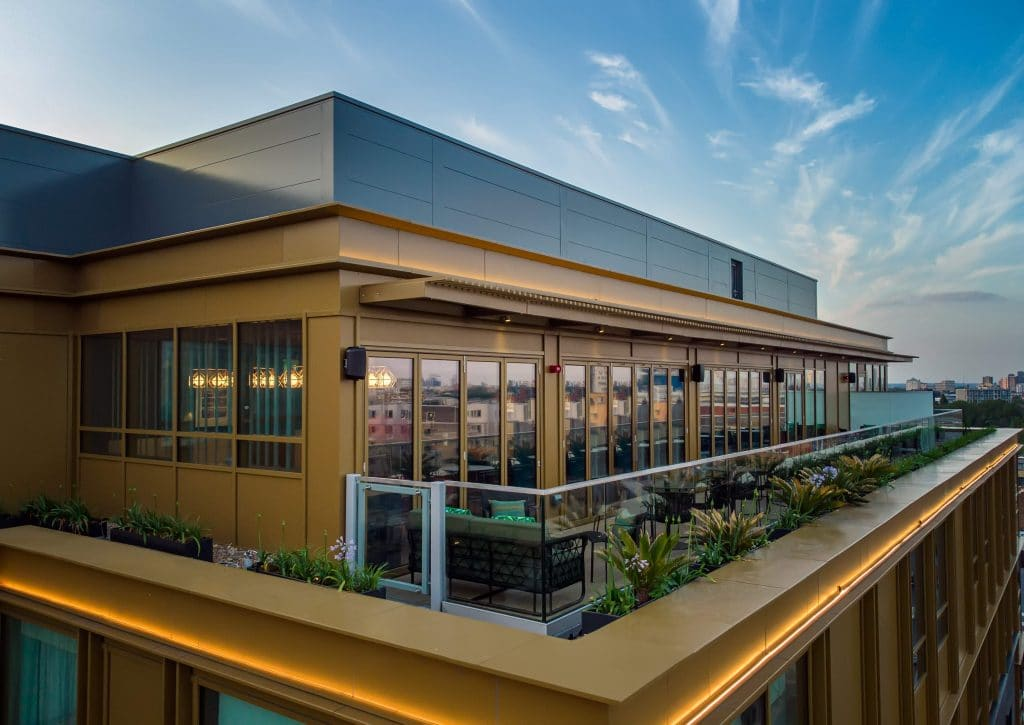 Exterior view of new rooftop bar PocketSquare